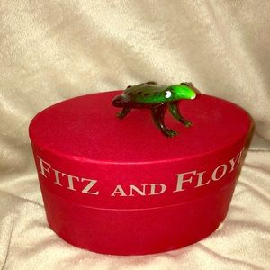 NIB Fitz and Floyd Glass Menagerie Frog Jeremy